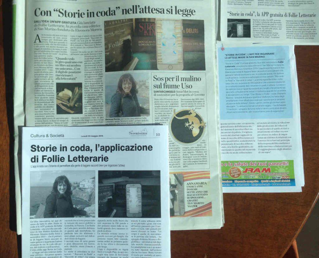 I giornali parlano di Storie in coda