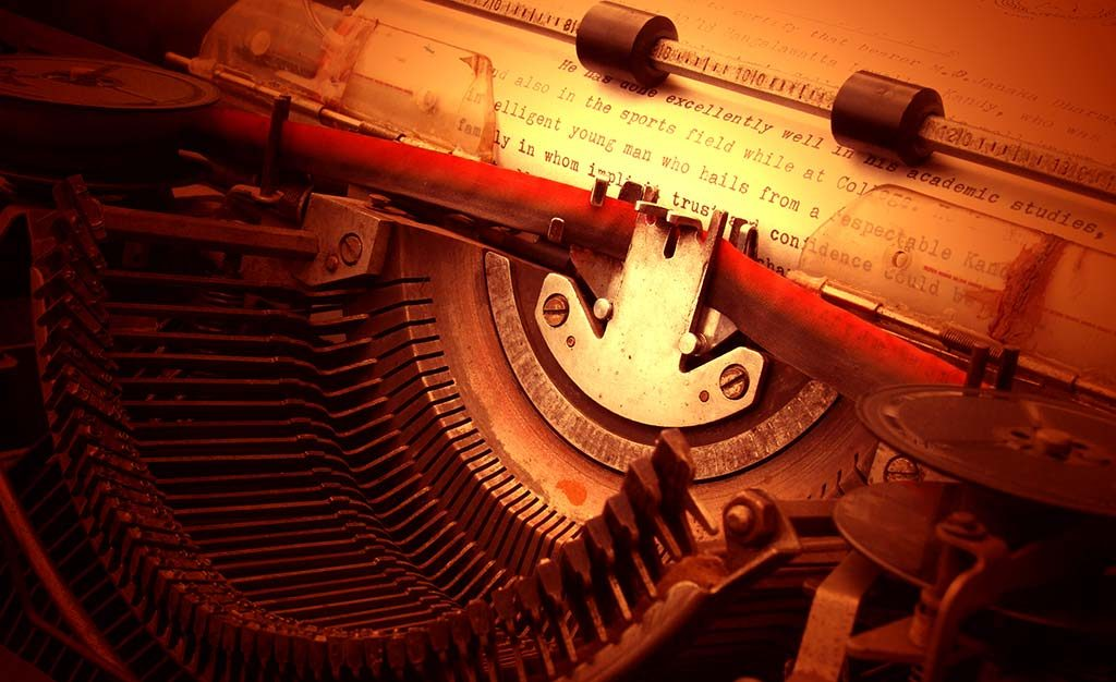 La macchina da scrivere di una casa editrice